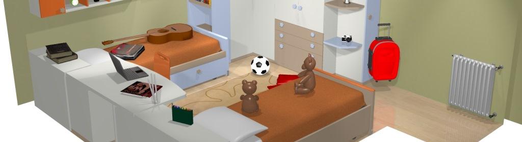 Come dividere una stanza in due camerette