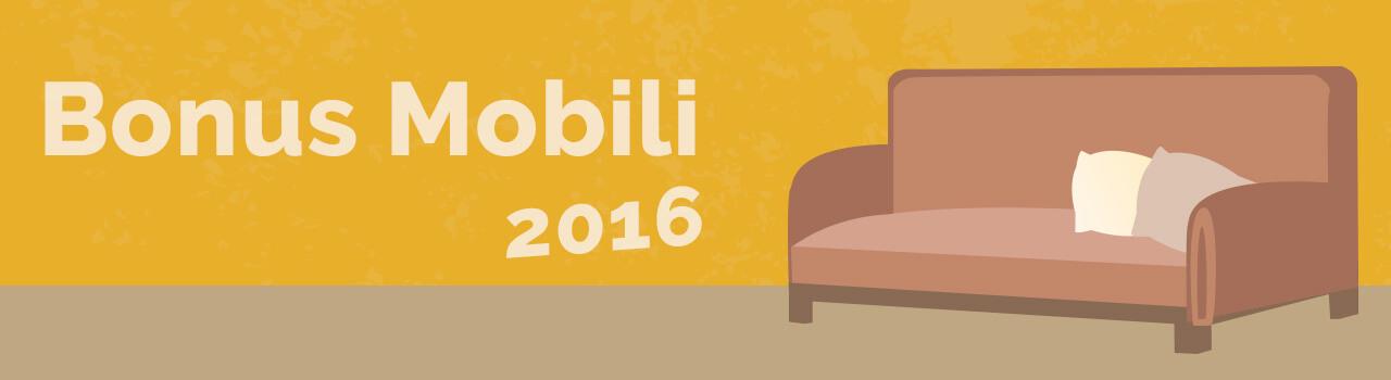 Bonus Mobili 2016: ordinario e per giovani coppie