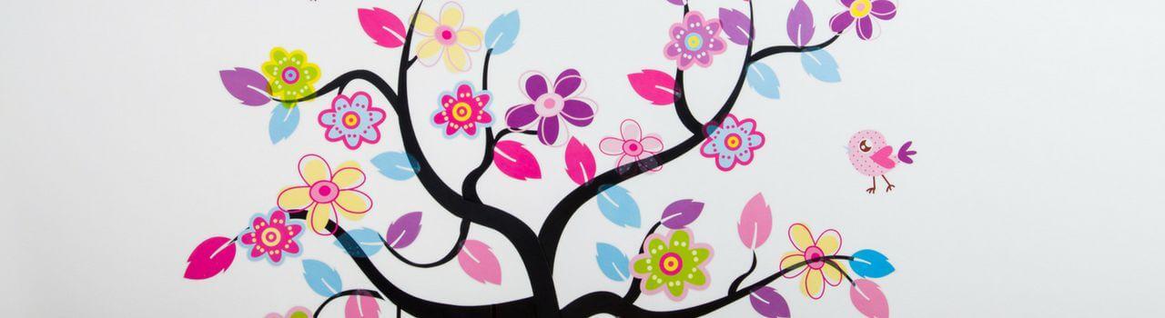 Adesivi murali: decorare casa con gli stencil per pareti