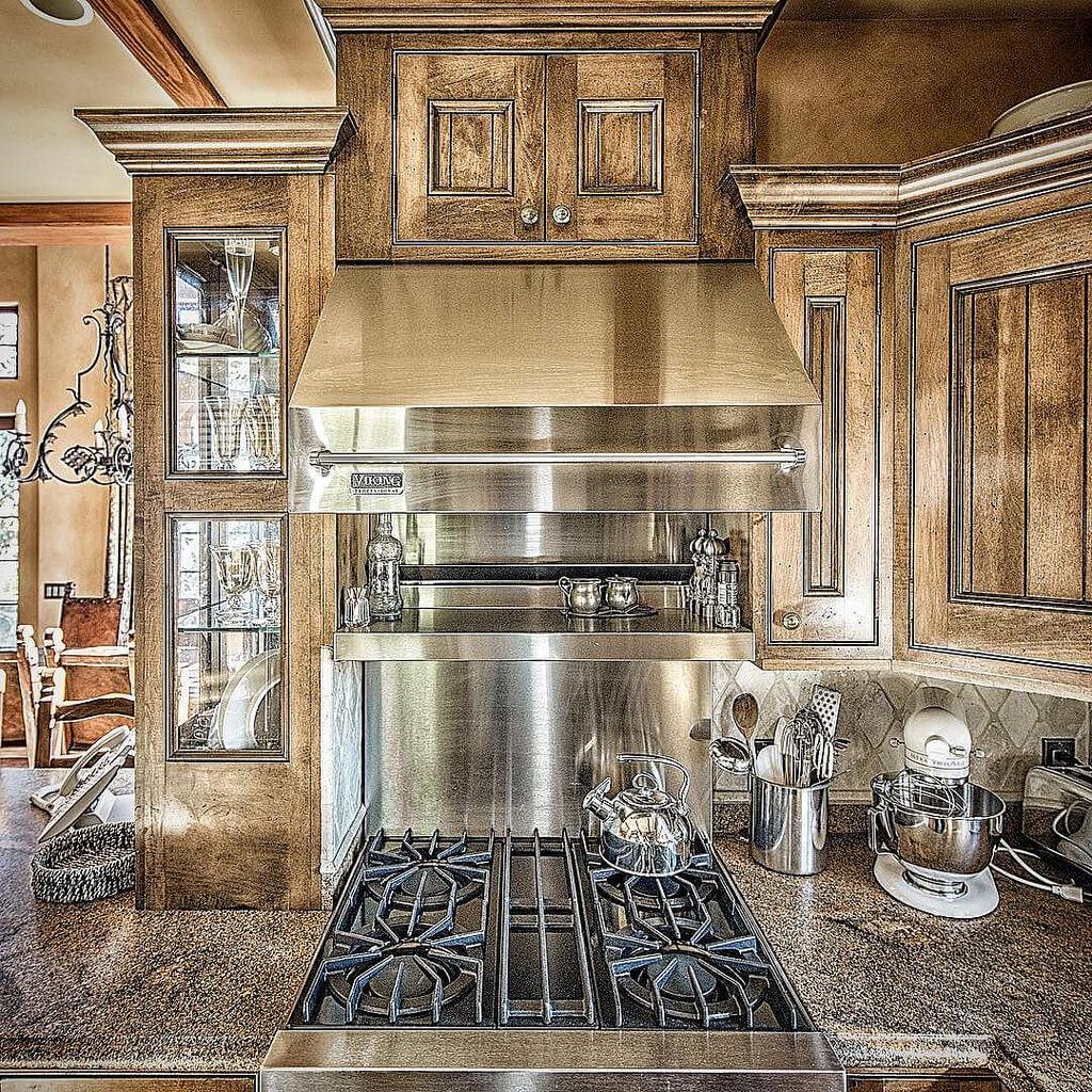 cucina in muratura industriale
