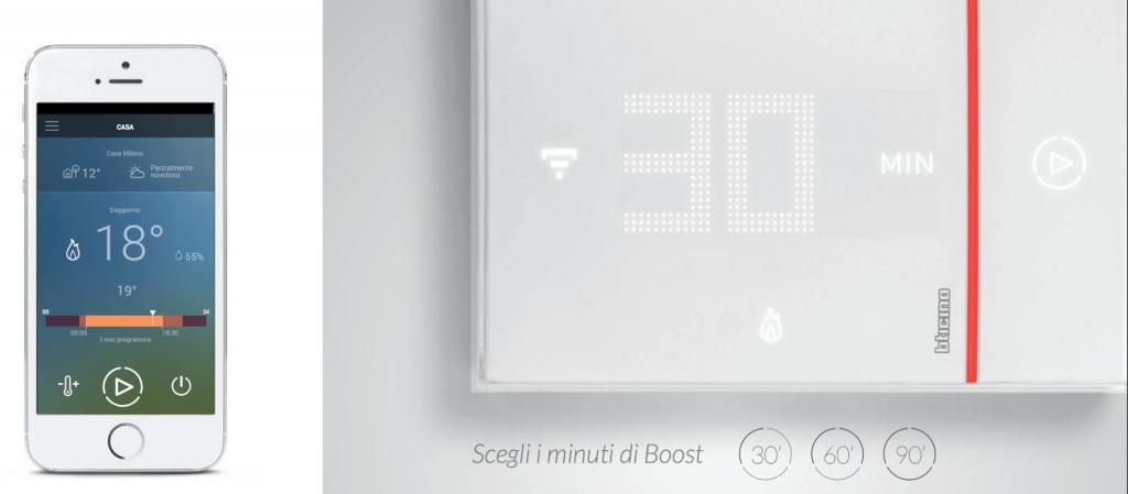 Impostare la temperatura a distanza e con un semplice comando vocale