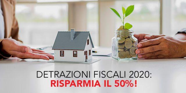 Risparmio del 50% grazie alle agevolazioni fiscali per la detrazione