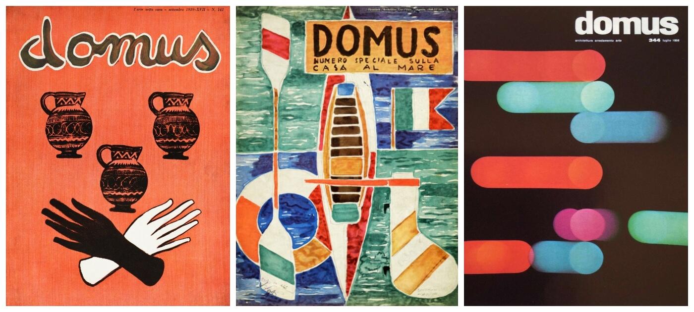 Ponti architetto designer, fondatore della rivista Domus e le sue splendide copertine