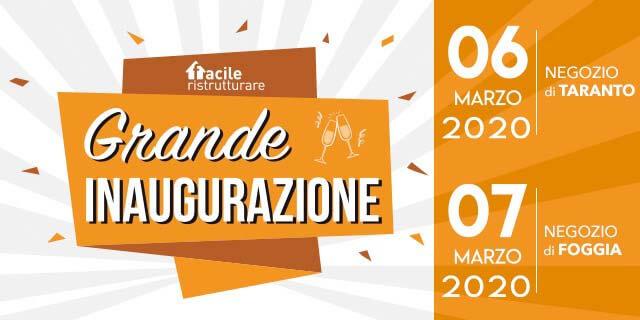 Taranto e Foggia: inaugurazione dei nuovi Store di Facile Ristrutturare