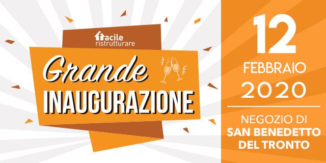 12 Febbraio: inaugurazione del nuovo store di Porto d'Ascoli