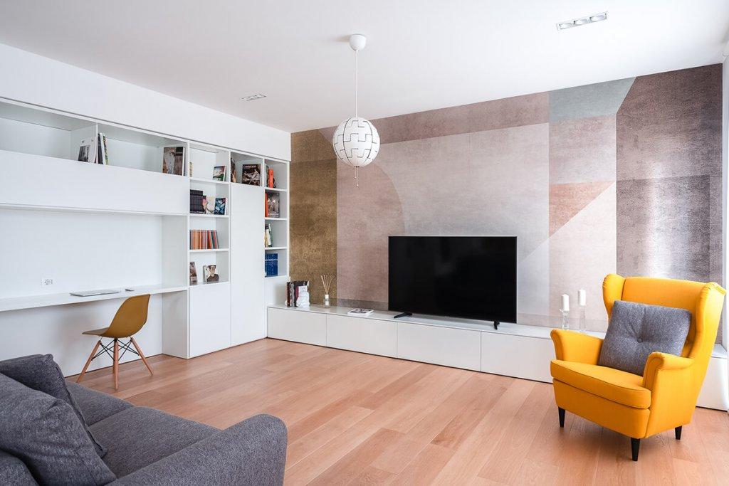 Living salotto dell'appartamento da 70mq di Cagliari