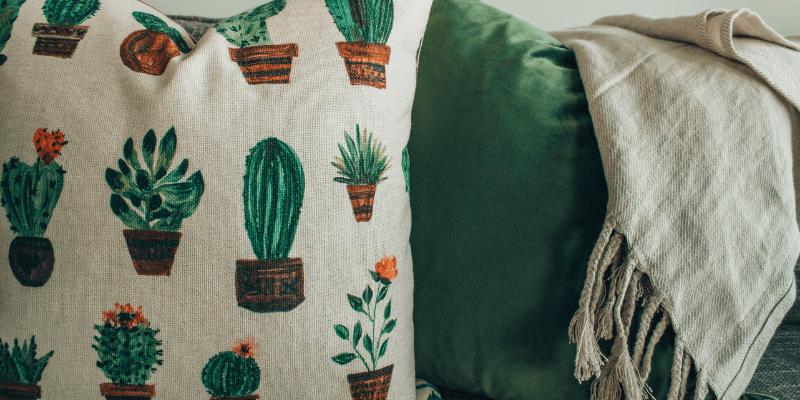 Cuscini dipinti a mano piante grasse e cactus   FacileRistrutturare