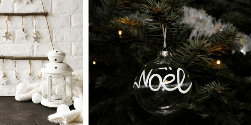 Decorazioni di Natale, stelle bianche, portacandela bianco, palla per l'albero Noel   FacileRistrutturare