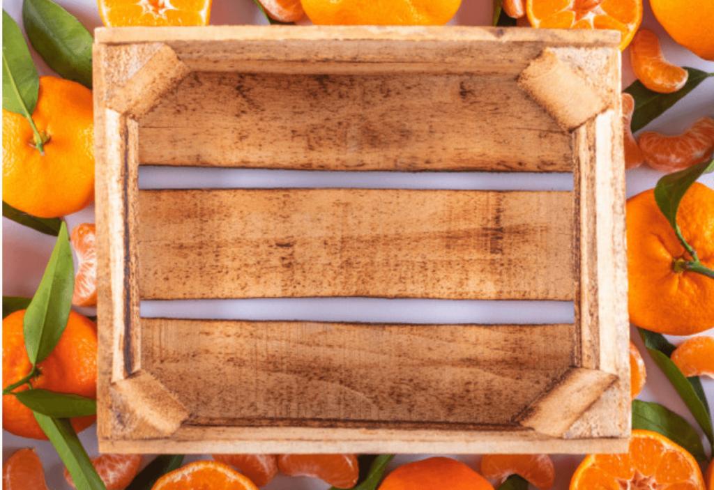 Cassetta di legno decorativa su arance   FacileRistrutturare